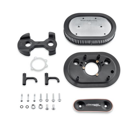 Screamin' Eagle Extreme Billet Air Cleaner Kit Agitator - Cut Back Black