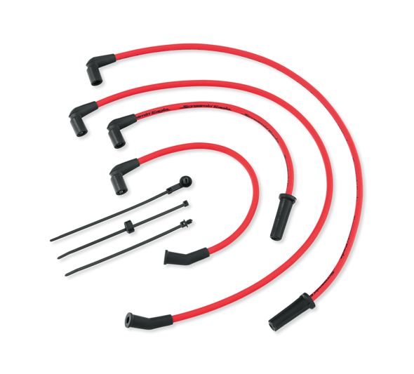 Screamin' Eagle 10MM Phat Spark Plug Wires - Red