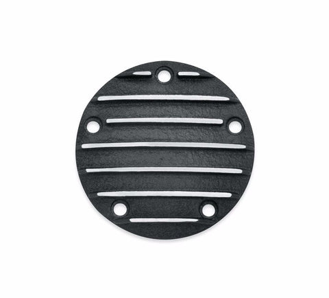 Black Fin Collection Timer Cover Twin Cam