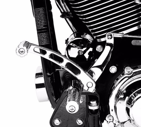 Billet Style Shift Lever - Chrome Dyna & FX Softail