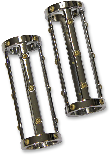 Carl Brouhard Designs Fork Sliders Indian Chrome