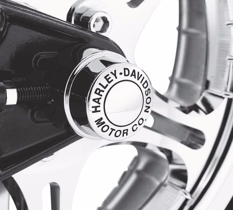 H-D® Motor Co. Collection Rear Axle Nut Cover Kit Dyna & Softail