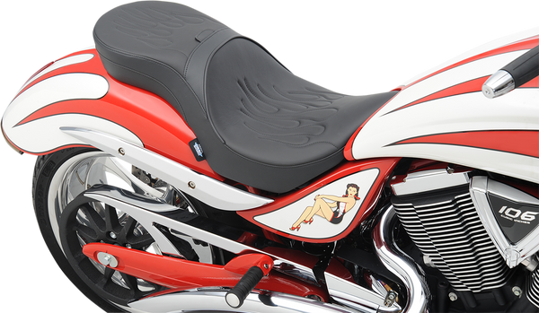 Drag Specialties Flame Low Profile Touring Seat For Victory Jackpot