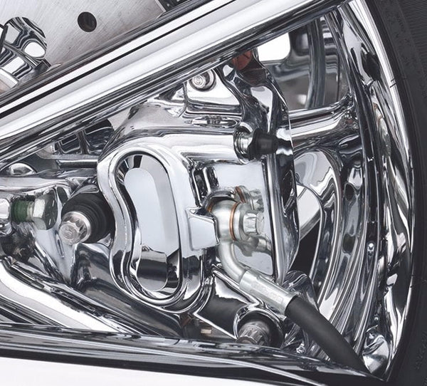 Chrome Rear Caliper Kit Dyna & Softail