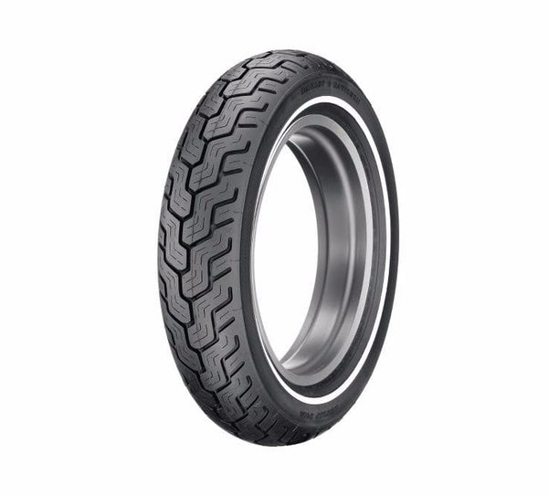 "Dunlop® Harley-Davidson® Tire Series - D402 MT90B16 Slim White Stripe - 16"" Rear"