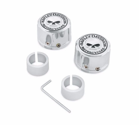 Skull Chrome-Plated ABS Valve Stem Caps