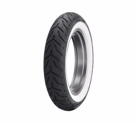 "Dunlop® Harley-Davidson® Tire Series - D408F 130/90B16 Wide Whitewall - 16"" Front"