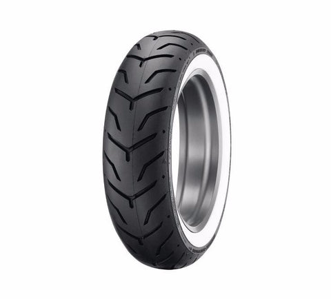 "Dunlop® Harley-Davidson® Tire Series - D407 180/65B16 - 16"" Rear - Wide Whitewall"