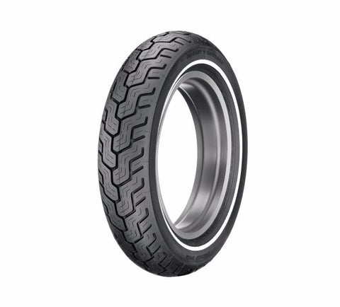 "Dunlop® Harley-Davidson® Tire Series - D402 MU85B16 Slim White Stripe - 16"" Rear"