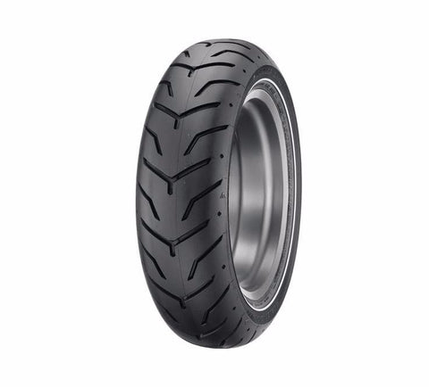 "Dunlop® Harley-Davidson® Tire Series - D407 180/65B16 - 16"" Rear - Slim White Stripe"