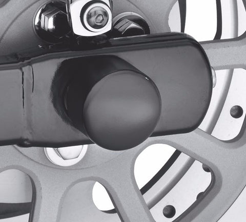 Rear Axle Nut Cover Kit - Gloss Black Dyna & Softail