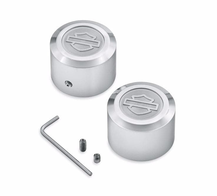 Aluminator 174 Collection Chrome Billet Front Axle Nut Cover Kit