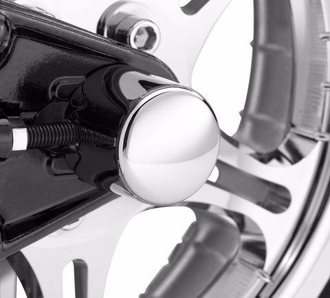 Rear Axle Nut Cover Kit - Classic Chrome '00-'07 Softail