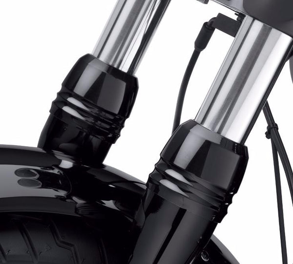 Gloss Black Billet Fork Slider Dust Covers