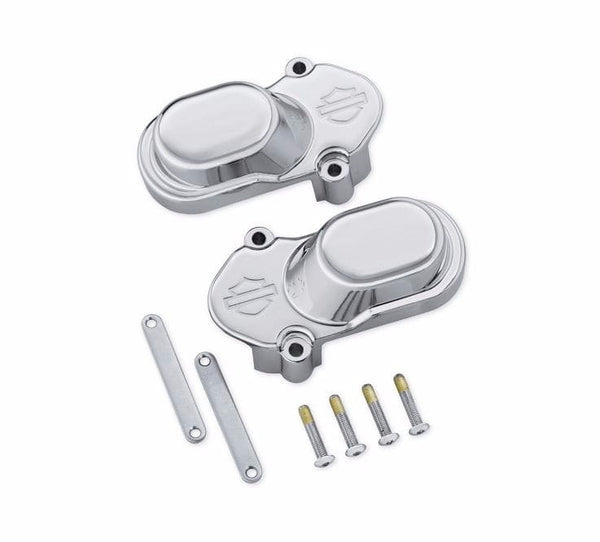 Bar & Shield Logo Rear Axle Cover Kit - Chrome XL