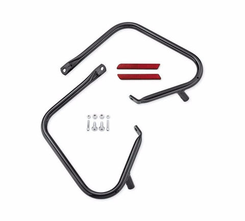 Gloss Black Rear Saddlebag Guard Kit '97-'08