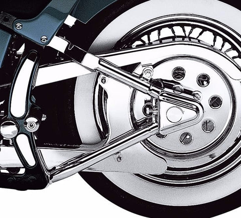 Chrome Swingarm Axle Covers for Softail Models