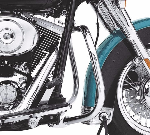 Nostalgic Curved Chrome Engine Guard Softail