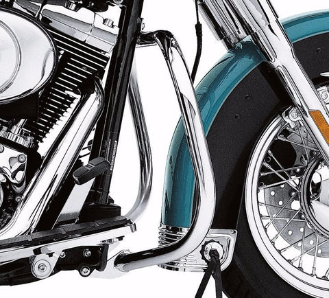 Chrome Front Engine Guard Kit '86-'99 FL Softail