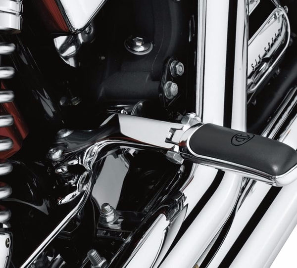 Chrome Passenger Footpeg Support Kit Dyna