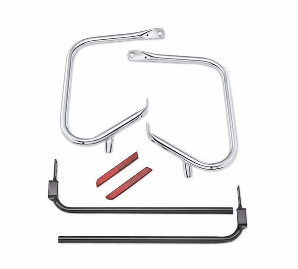 Chrome Rear Saddlebag Guard Kit