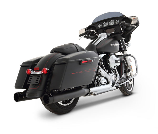 "Rinehart Racing- 2017-Later Touring 4"" Slip-On Mufflers Black with Black End Caps"