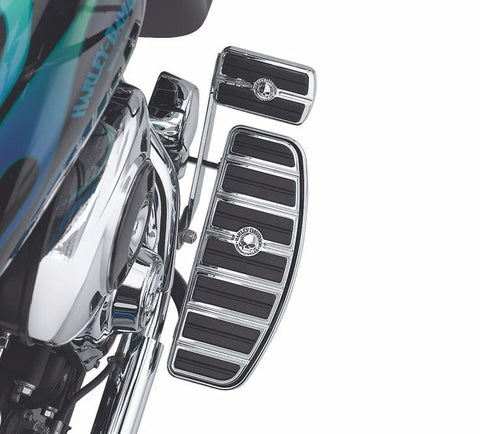 Chrome and Rubber Collection Custom Footpegs Large