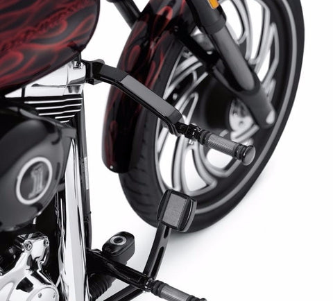 Whiskers Adjustable Highway Bar Softail Gloss Black