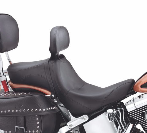 Signature Series-Seat with Rider Backrest - Smooth Softail