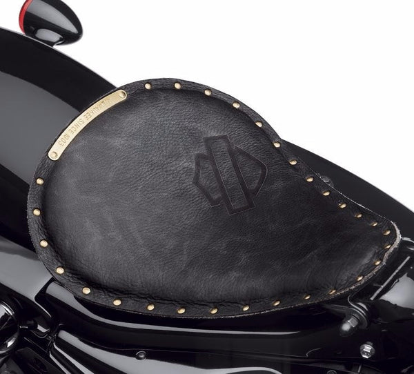 Bobber Solo Saddle - Black Distressed Leather