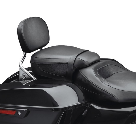 Low-Profile Passenger Pillion - Black Smooth Vinyl