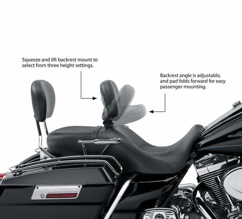 Road King Classic Style Rider Backrest Kit