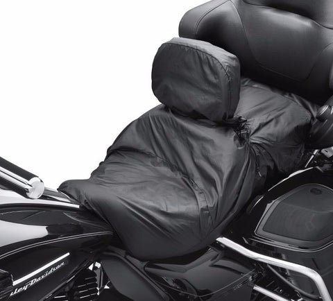 Touring Seat Rain Cover with Rider Backrest