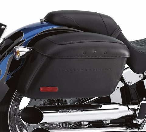Locking Leather Covered Rigid Saddlebags for Softail® Models