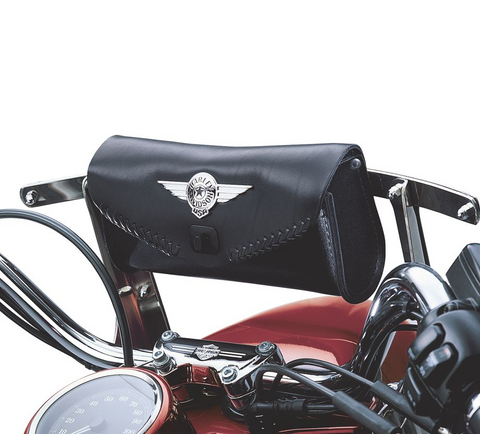 Fat Boy Windshield Bag with Die-Cast Concho