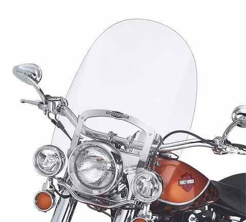King-Size Nostalgic Detachable Windshield for FL Softail® Models Clear