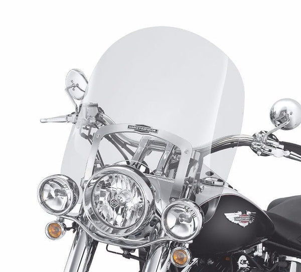 King-Size Nostalgic Detachable Windshield for FL Softail® Models Smoke