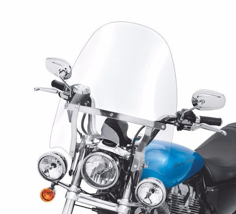 "Detachable Compact Windshield for Models with Auxiliary Lighting - 18"" Clear"