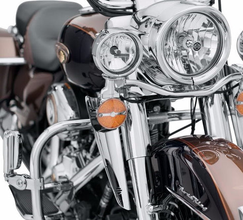 Fork Mount Wind Deflectors, Chrome Touring