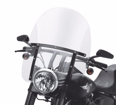 Detachable King-Size Windshield for FL Softail® Models - Gloss Black