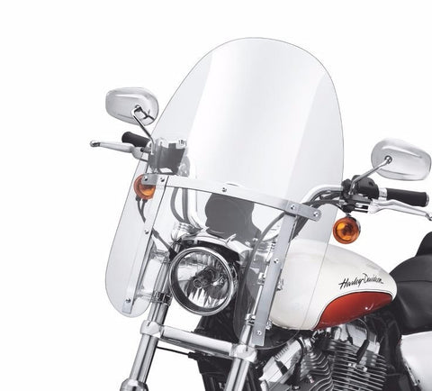 "Quick-Release Compact Windshield - XL883L Models 14"" Light Smoke"