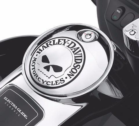 Willie G.® Skull Collection Fuel Console Door - '08 & Later