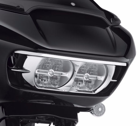 Road Glide Headlamp Trim - Chrome
