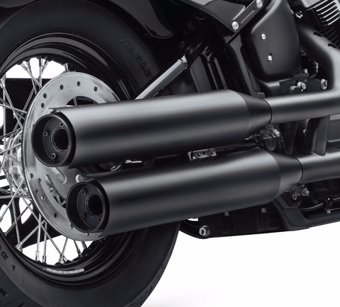 Satin Black Muffler Shields - Long Shields