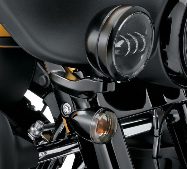 Custom Auxiliary Lighting Bracket Kit Gloss Black Flhx