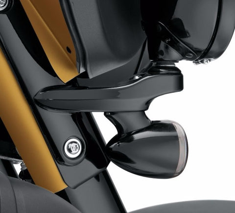 Custom Auxiliary Lighting Bracket Kit - Gloss Black FLHX