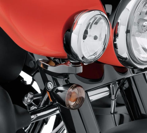 Custom Auxiliary Lighting Bracket Kit - Gloss Black Electra Glide