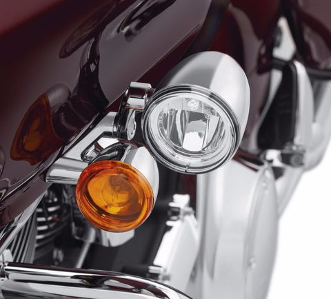Road Glide LED Fog Lamp Mount Kit - Chrome
