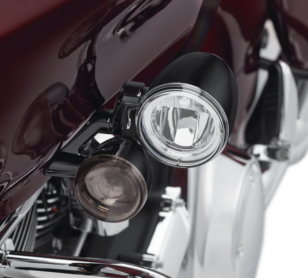Road Glide LED Fog Lamp Mount Kit - Gloss Black