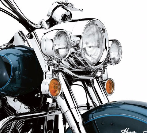 Headlamp Trim Ring '94-Later FL Softail.